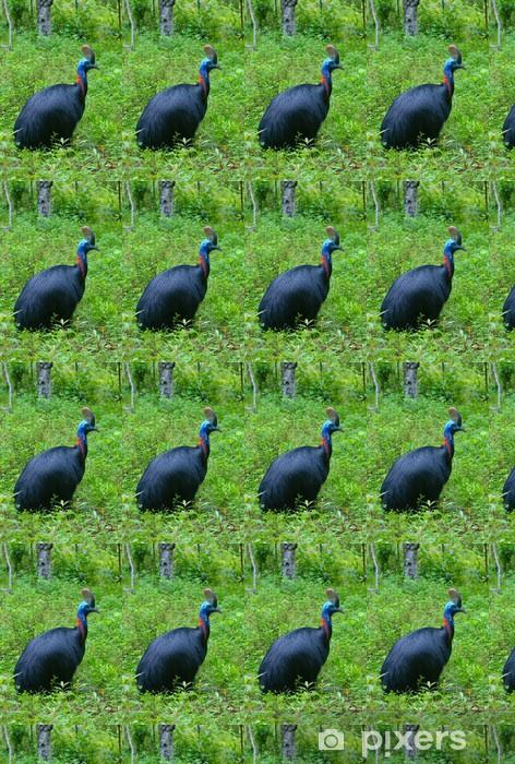 Papier peint vinyle sur mesure Close up image de casoar dans l'herbe verte - Oiseaux