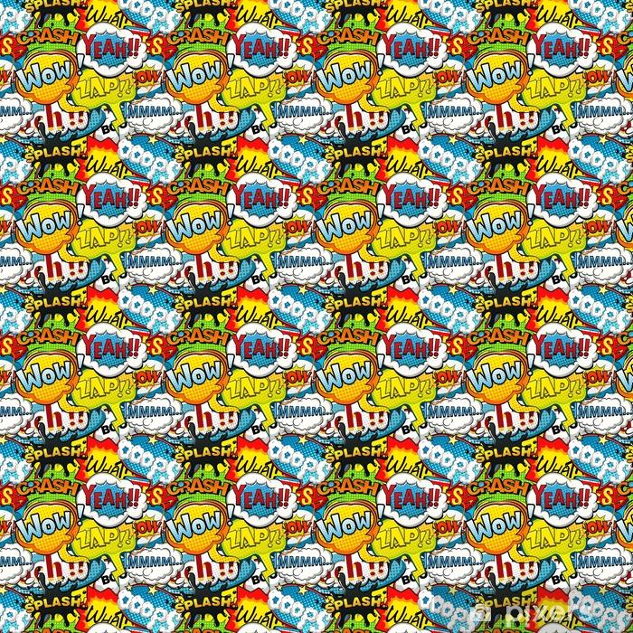 Multicolored comics speech bubbles seamless pattern illustration Vinyl custom-made wallpaper - Graphic Resources