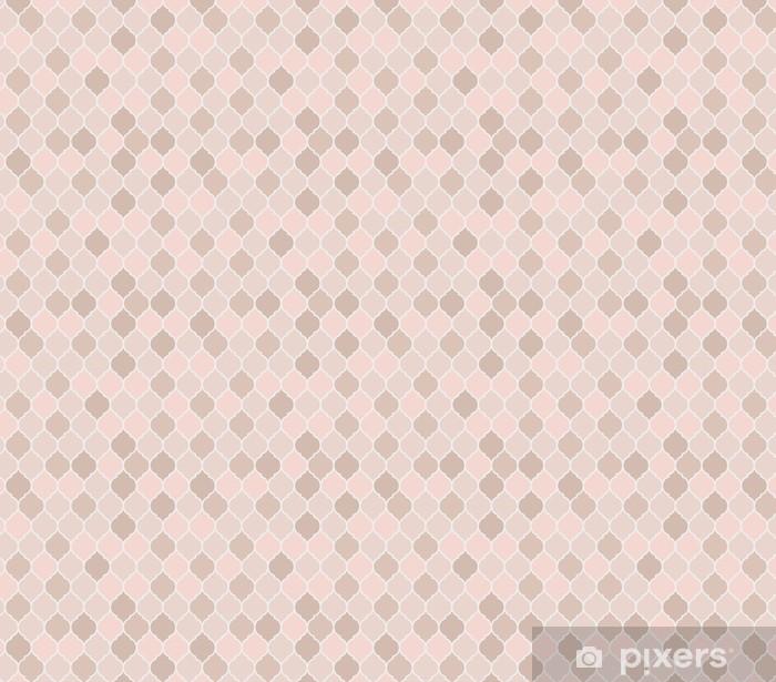 Vinyl behang, op maat gemaakt Naadloze patroon roze tegels, vector - Grafische Bronnen