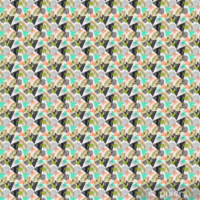 Abstrakti kesä geometrinen saumaton malli Räätälöity vinyylitapetti - Graafiset Resurssit