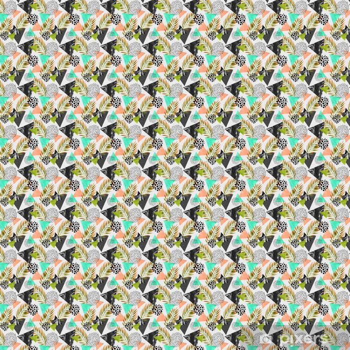 Abstract summer geometric seamless pattern Vinyl Custom-made Wallpaper - Graphic Resources