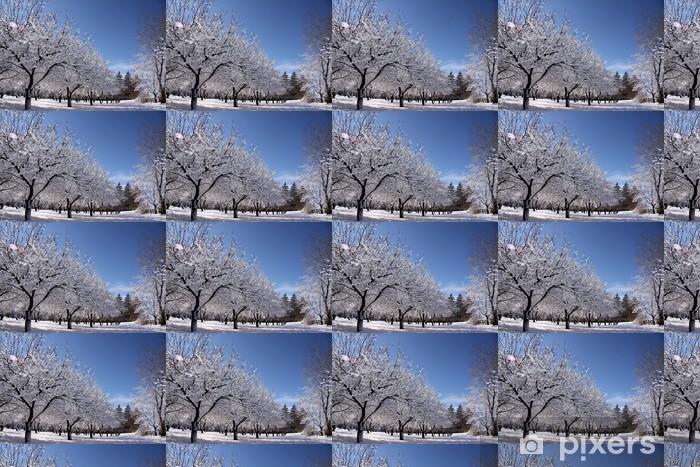 Papier peint vinyle sur mesure Winter Wonderland- - Saisons