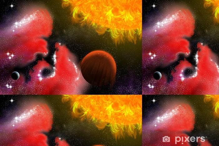 Vinylová Tapeta Dvě planety - Meziplanetární prostor