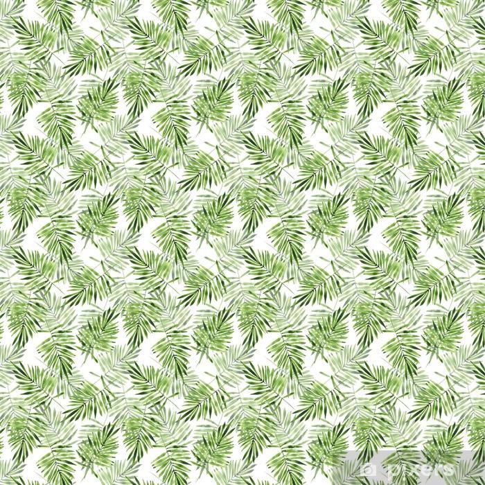 Tapeta na wymiar winylowa Liście palmowe. Akwarela bezszwowe wzór 2 - Zasoby graficzne
