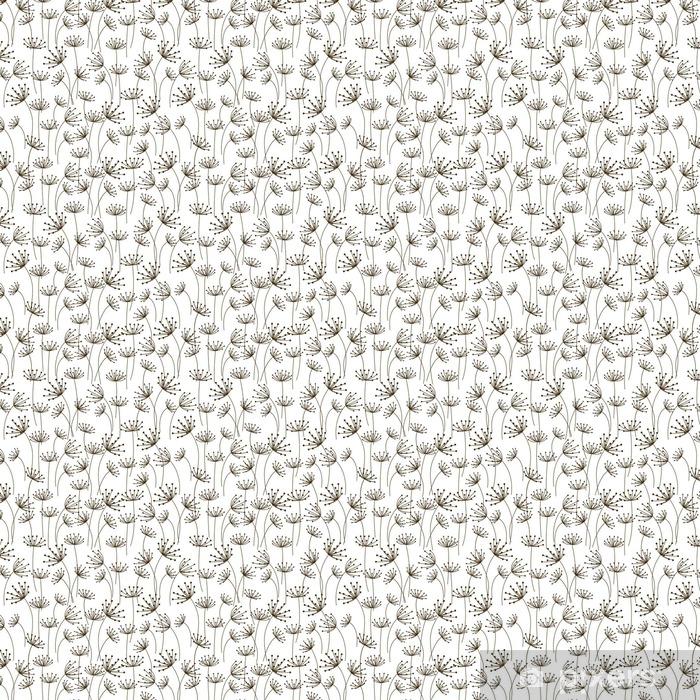 Vinyl behang, op maat gemaakt Naadloze patroon met bloemen versierde - Grafische Bronnen