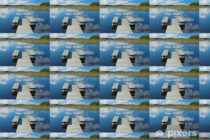 Vinyltapete nach Maß Tauchen Bootssteg - Wasser