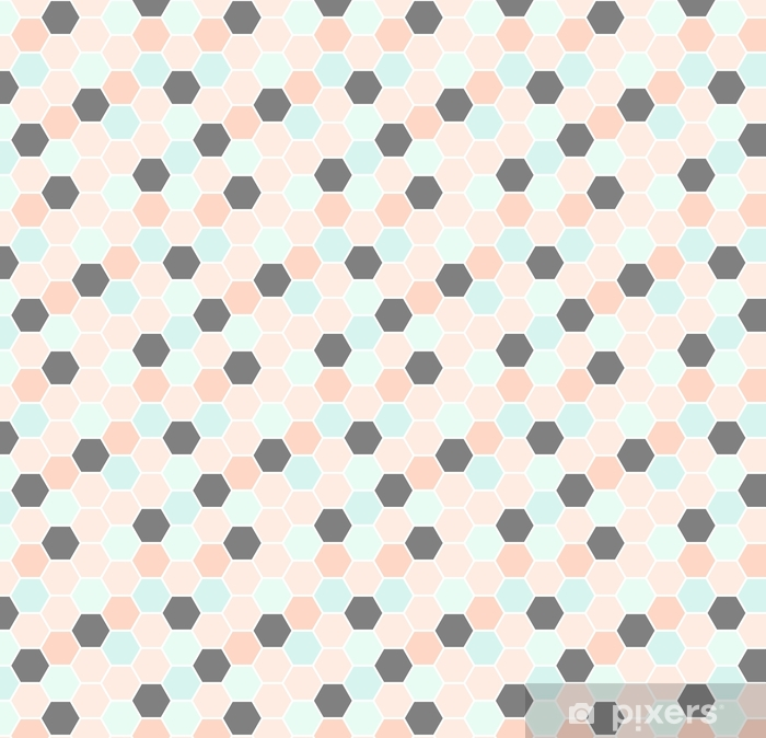 Papier peint vinyle sur mesure Modèle sans couture d'hexagone - Ressources graphiques