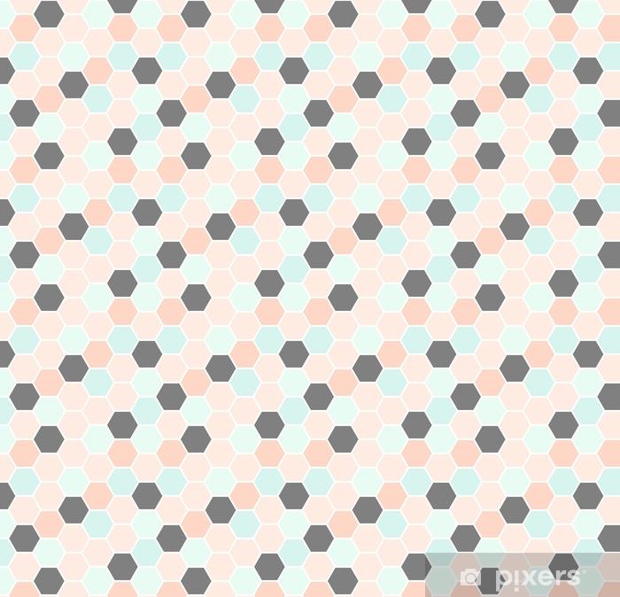 Måttanpassad vinyltapet Sexkantigt sömlöst mönster - Grafiska resurser