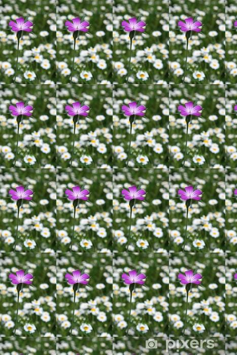 Tapeta na wymiar winylowa Purpurowy kwiat w dziedzinie margarity - Kwiaty