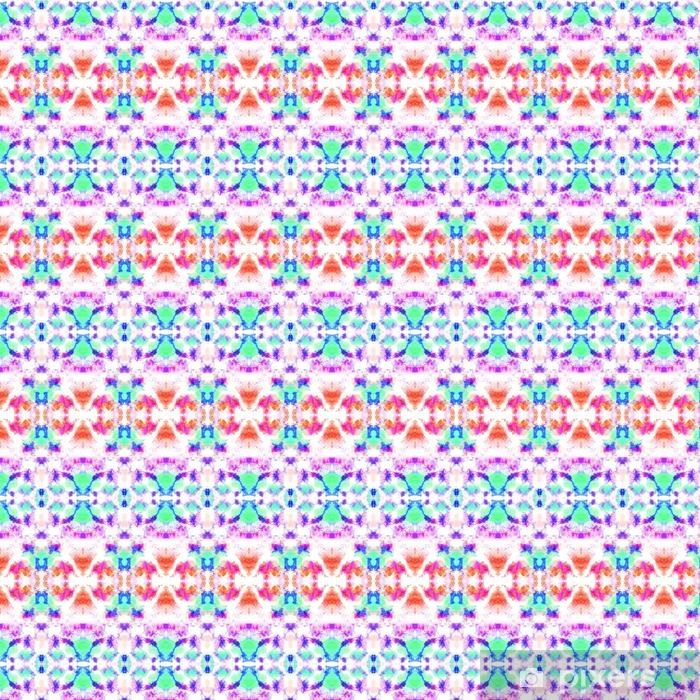 Vinyltapete nach Maß Nahtlose ethnischen Kaleidoskopmuster. Schöne geometrische Formen auf weißem Hintergrund. - Grafische Elemente