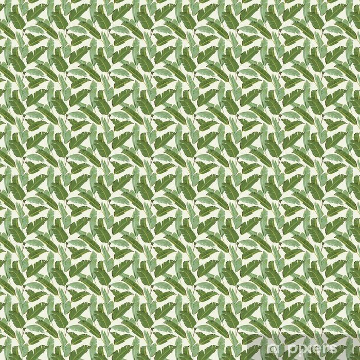 Tapeta na wymiar winylowa Seamless Pattern. Tropical Palm pozostawia tła. Liście bananowca - Rośliny i kwiaty