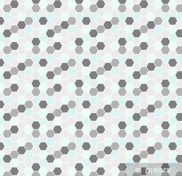 Spesialtilpasset vinyltapet Sekskantet sømløst mønster - Grafiske Ressurser