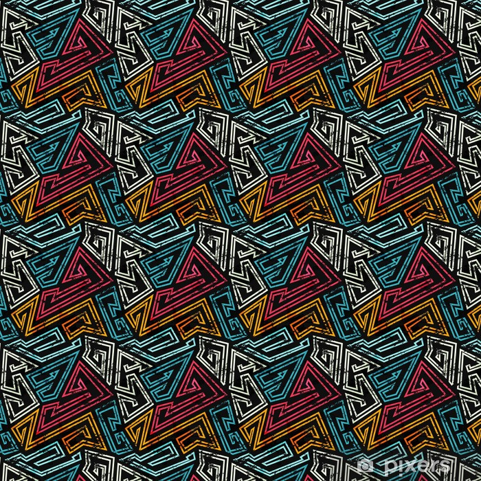 graffiti seamless pattern with grunge effect Vinyl custom-made wallpaper - Graphic Resources