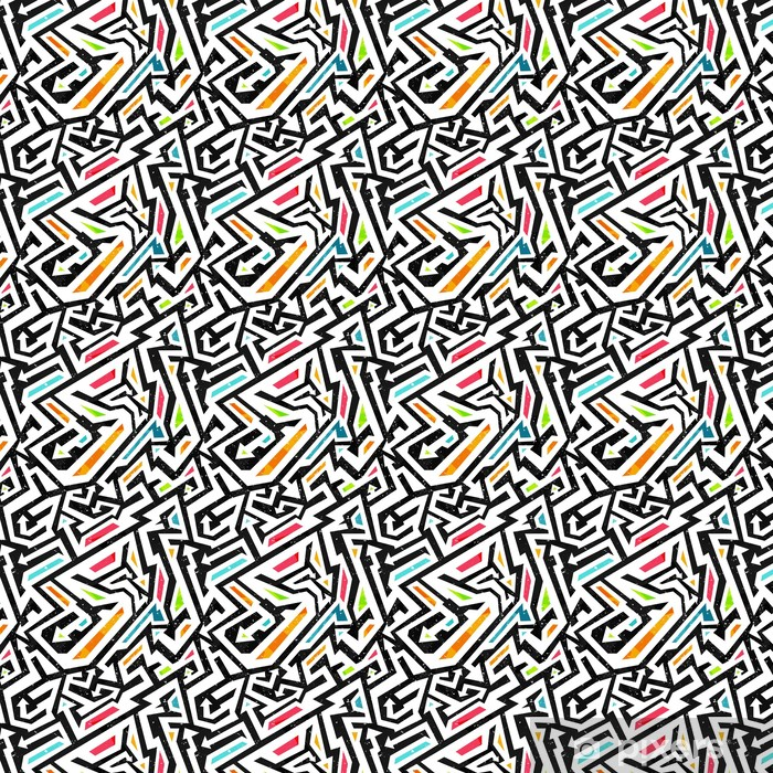 graffiti seamless pattern Vinyl Custom-made Wallpaper - Graphic Resources