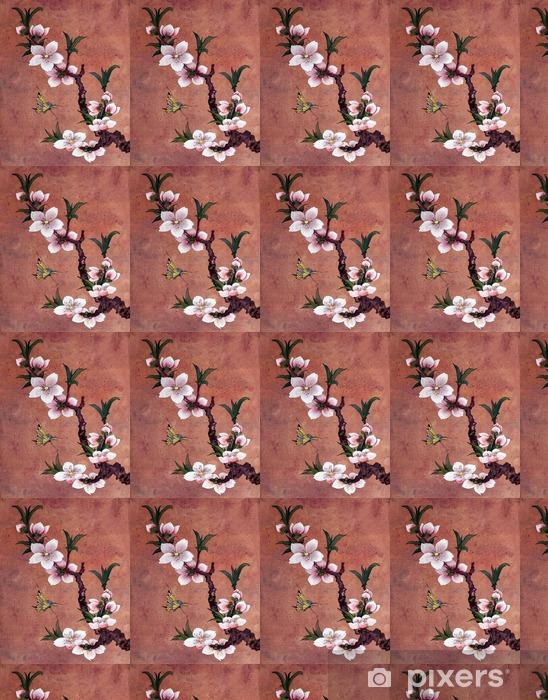Vinylová tapeta na míru Jablko kvetoucí větev - Rostliny a květiny