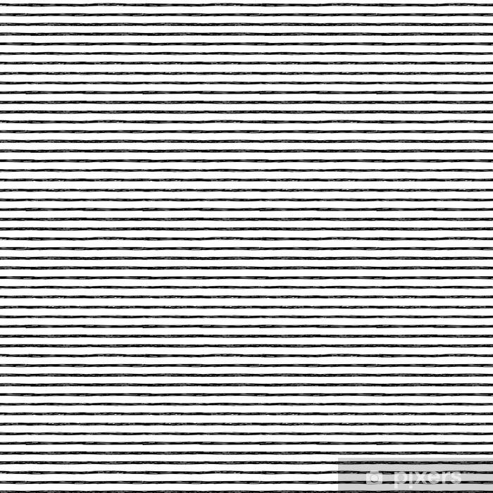 Zelfklevend behang, op maat gemaakt Naadloos patroon met de hand getekende strepen - Grafische Bronnen