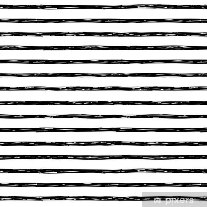 Seamless pattern with hand drawn stripes Vinyl Wallpaper - Graphic Resources
