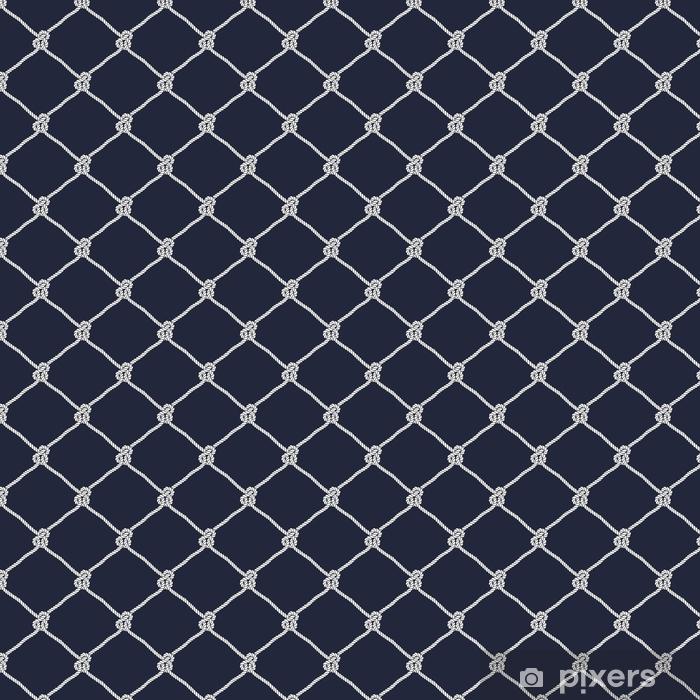 Papel pintado estándar a medida Patrón de nudo de cuerda náutica inconsútil - Recursos gráficos