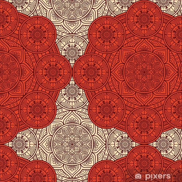 Vinylová Tapeta Etnický květinový vzor bezešvé - Grafika