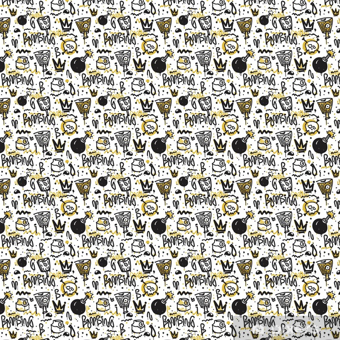 Vector seamless pattern Vinyl custom-made wallpaper - Graphic Resources