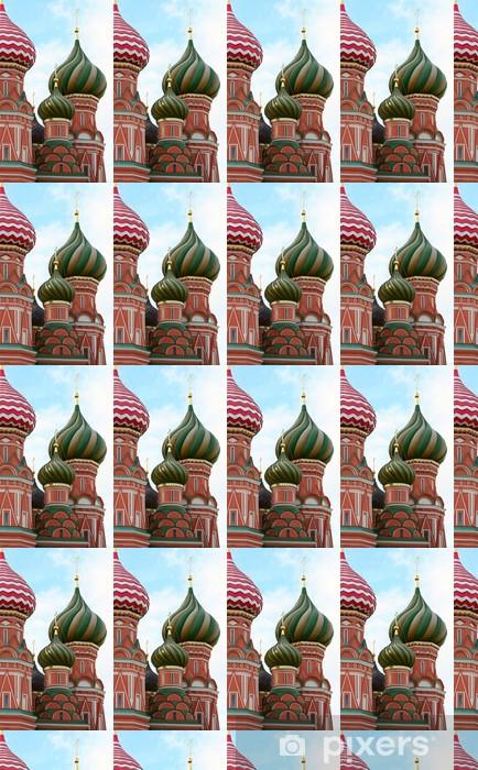 Papier peint vinyle sur mesure Fragment Cathédrale de Saint-Basile, la Russie, Moscou - Bâtiments publics