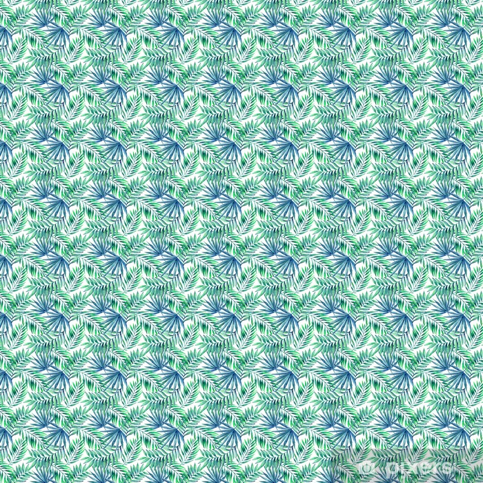 Akvarel tropiske blade sømløse mønster Personlige selvklæbende tapet -