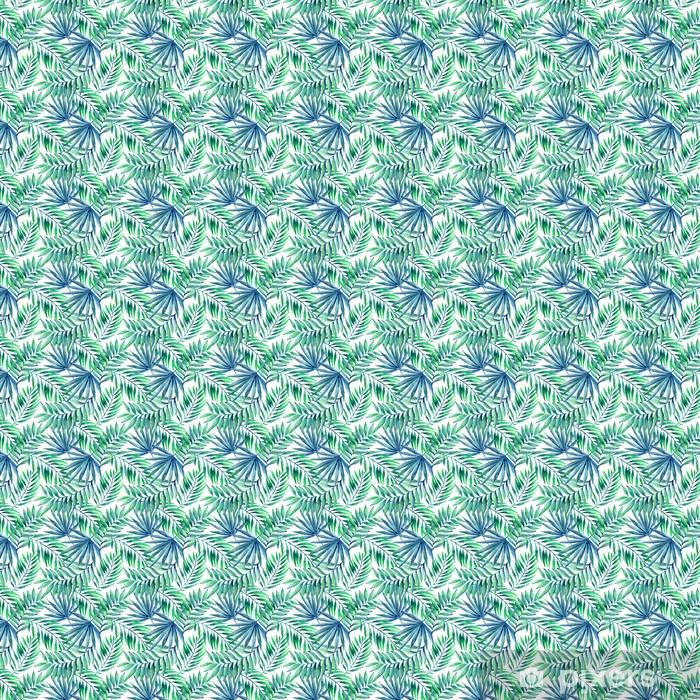 Vesiväri trooppinen lehdet saumaton malli Räätälöity vinyylitapetti -