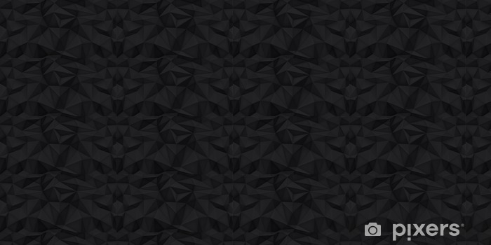 Low polygon shapes background, triangles mosaic, vector design, creative background, templates design, black background Vinyl custom-made wallpaper - Graphic Resources