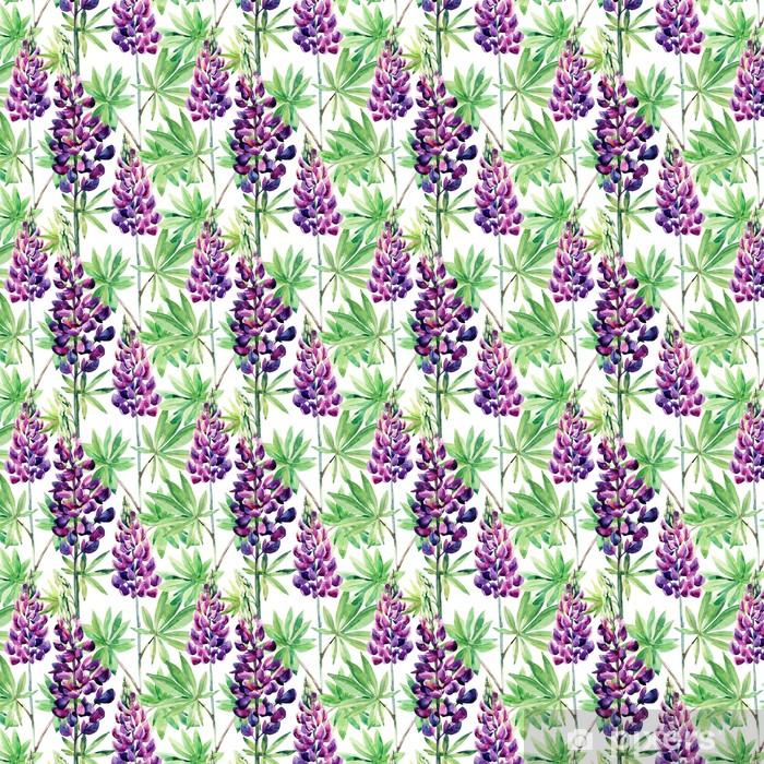 Tapeta na wymiar winylowa Kwiaty szwu z łubinu akwarela -