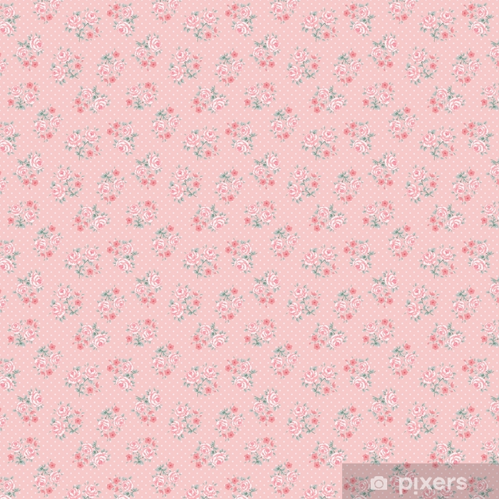 Flower seamless pattern Self-adhesive custom-made wallpaper - Plants and Flowers