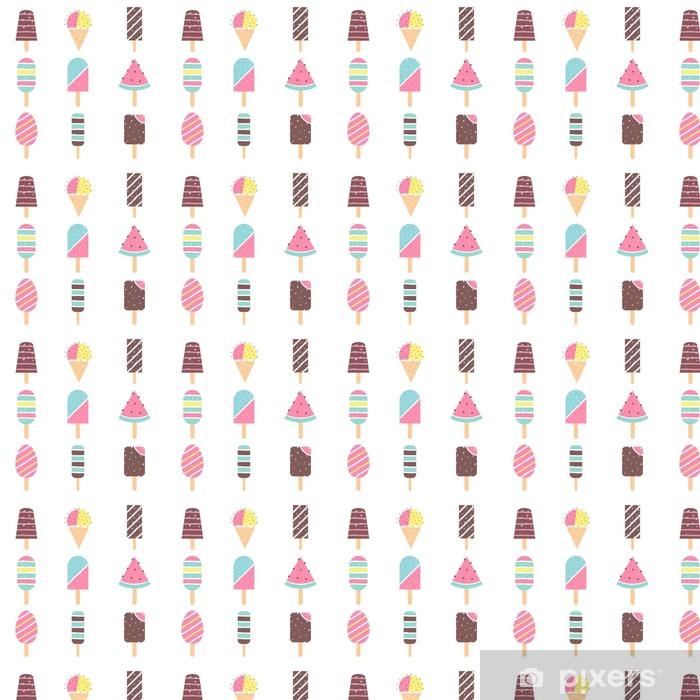 Papier peint vinyle sur mesure Glaces et Popsicle Sticks. Vector Set - Nourriture