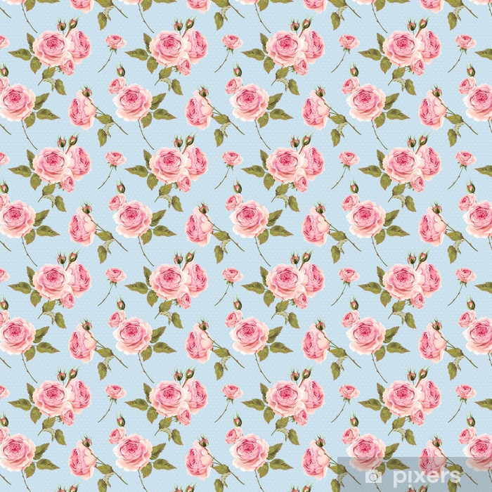 English roses seamless Vinyl custom-made wallpaper - Plants and Flowers