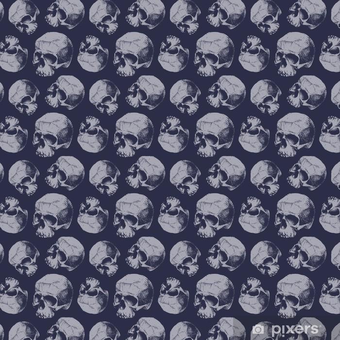 Papel pintado estándar a medida Grunge seamless con los cráneos. - Recursos gráficos