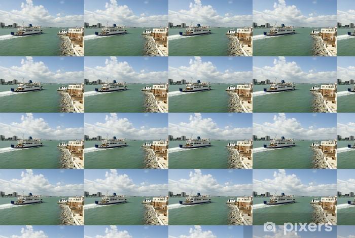 ferry Vinyl custom-made wallpaper - Boats