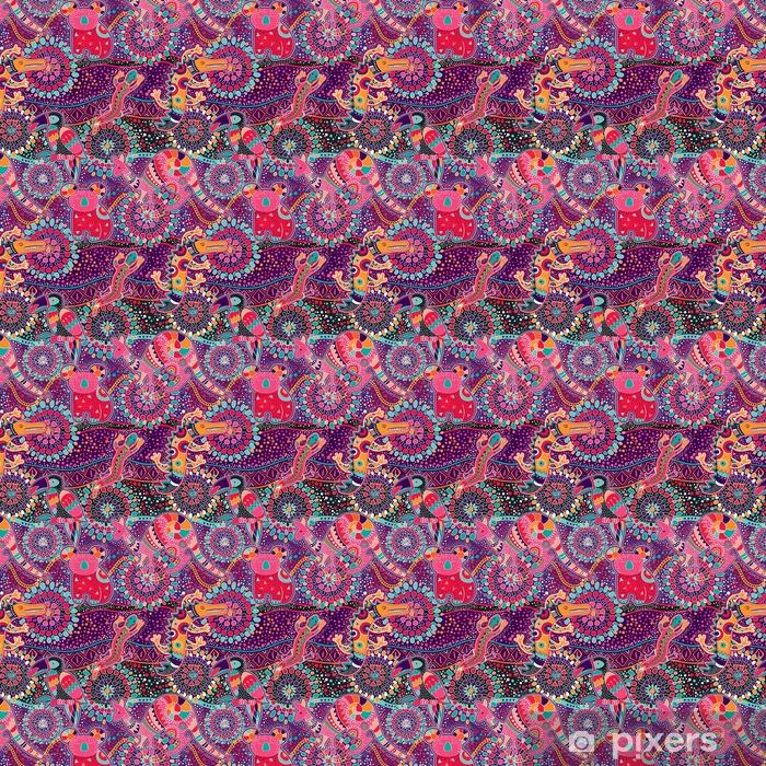 Tapeta na wymiar winylowa Kolorowy dekoracyjny wzór. pochodzenie etniczne - Zasoby graficzne