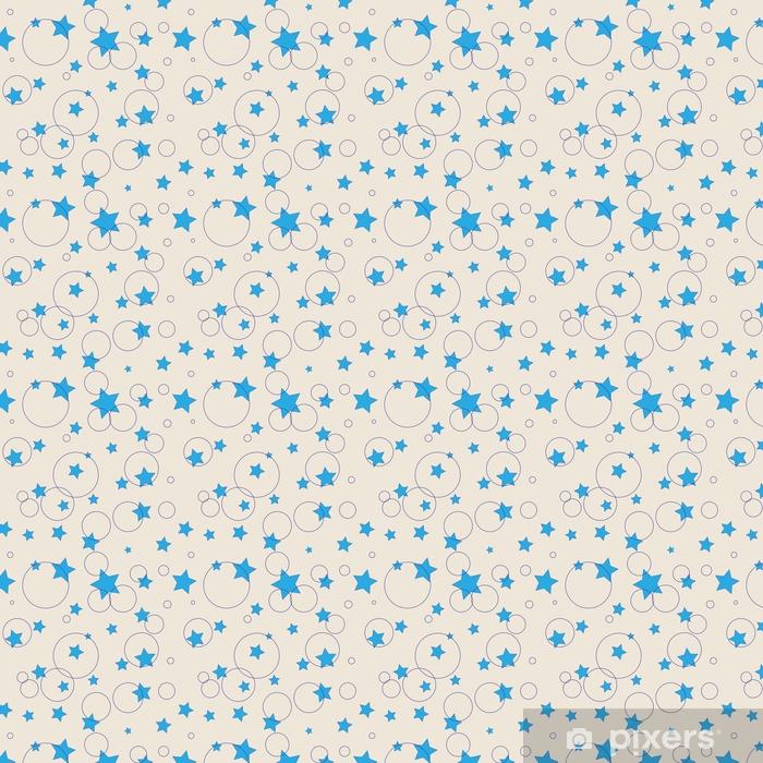 Vinyl behang, op maat gemaakt Sterren en ring naadloos patroon - Grafische Bronnen