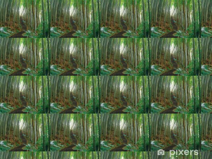 Papier peint vinyle sur mesure Green bamboo forest - Asie