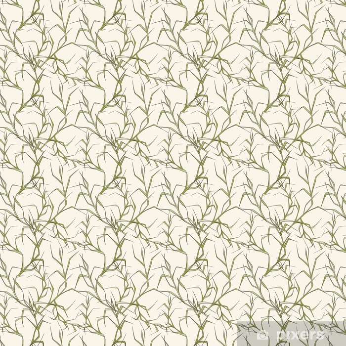Seamless floral pattern Vinyl custom-made wallpaper - Graphic Resources