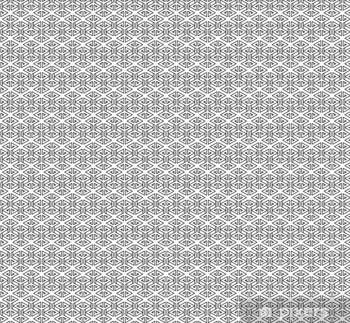 Papier peint vinyle sur mesure Motif oreiller de mode abstrait géométrique hippie noir et blanc - Ressources graphiques