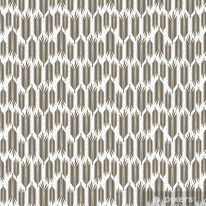 Vinyl behang, op maat gemaakt Naadloos patroon met palmbladeren ornament - Bloemen en Planten