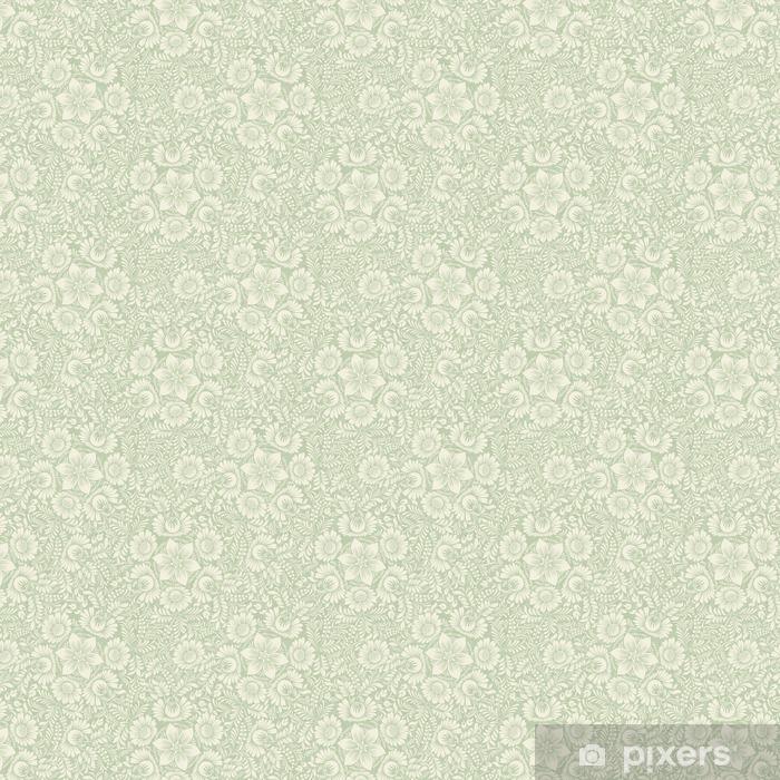 Papel pintado estándar a medida Sin fisuras de fondo en color verde estilo popular - Recursos gráficos