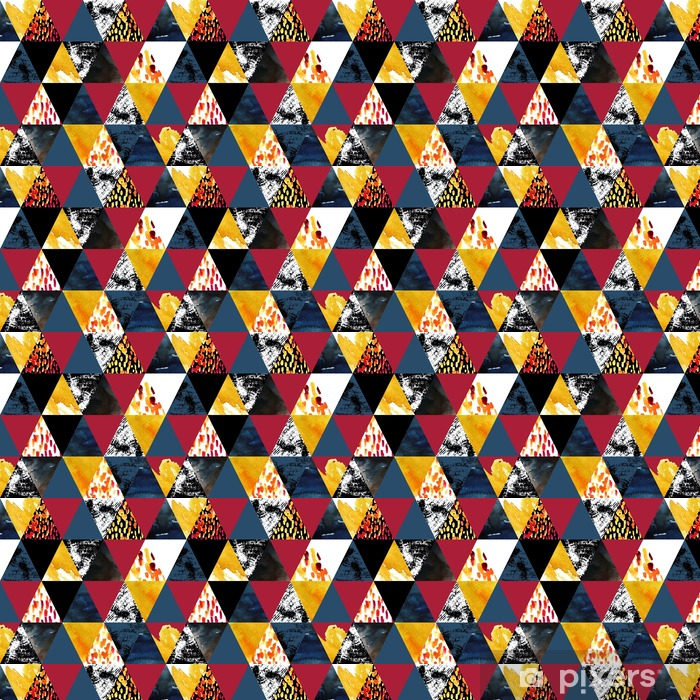 Måttanpassad vinyltapet Höst inspirerad vattenfärg seamless - Grafiska resurser