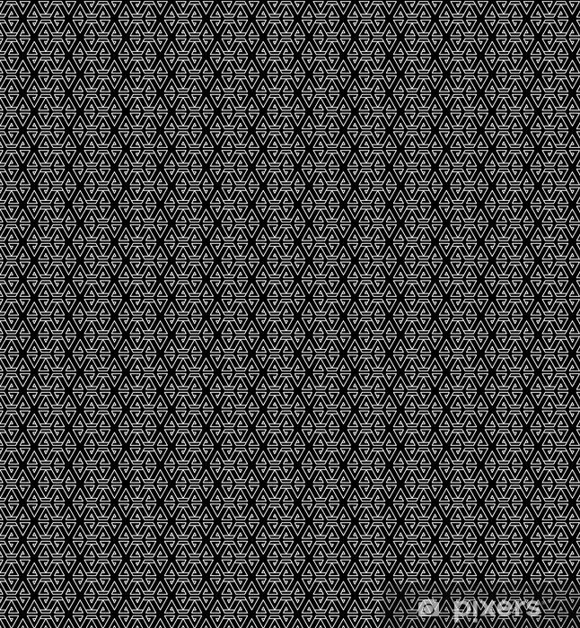 Vinyltapete nach Maß Abstrakte geometrische schwarze und weiße Hipster Mode Kissen Muster - Grafische Elemente