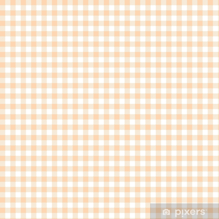 Yellow Peach Seamless Gingham Pattern Wallpaper Vinyl Custom Made