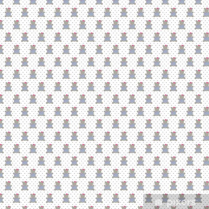 Papier Peint à Motifs Teddy Bear Seamless Pattern Cute Cartoon