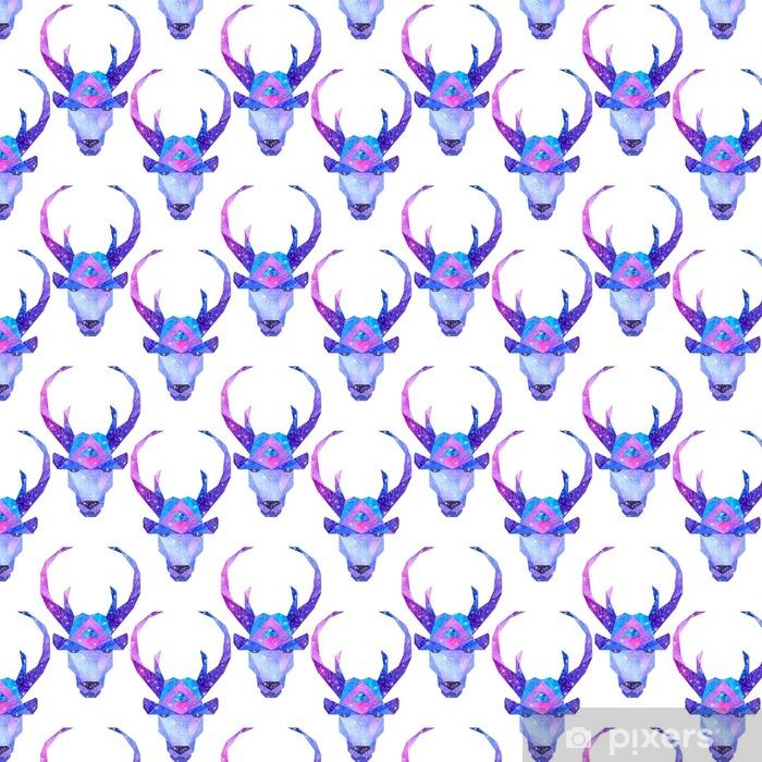Tapeta na wymiar winylowa Akwarela kosmiczne zwierzęta. Ręcznie rysowane ilustracji - Zwierzęta