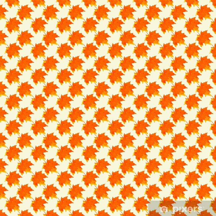 Watercolor maple leaves pattern Vinyl custom-made wallpaper - Graphic Resources