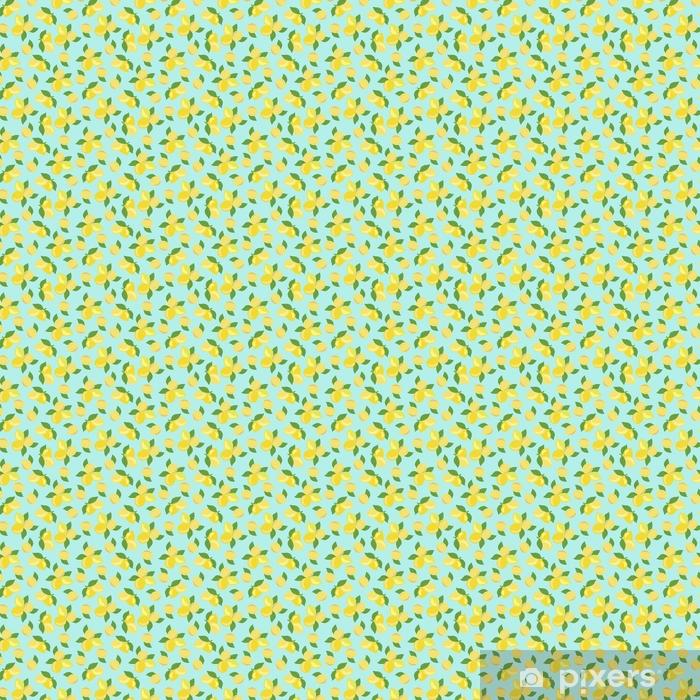 Tapeta Rucne Kreslene Citrony S Listy Bezesve Vzor Pixers
