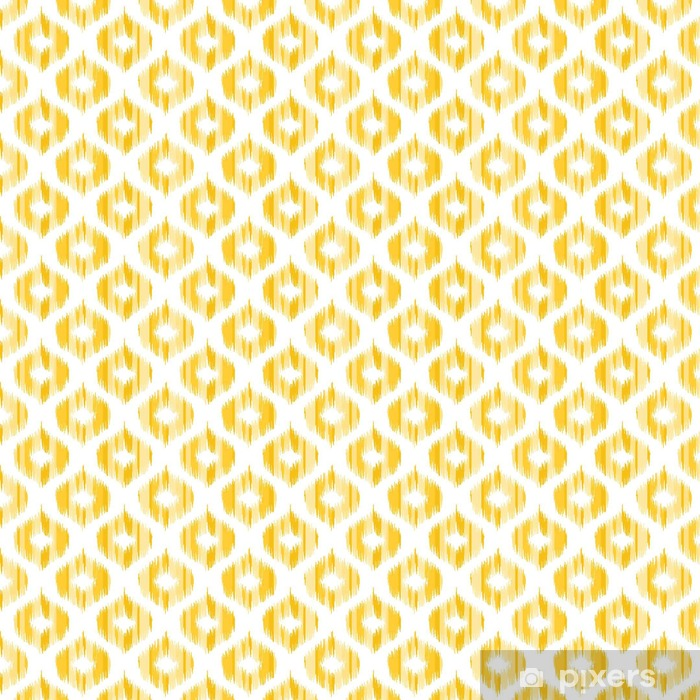 Ikat fabric pattern, abstract geometric pattern    Seamless vector  background  Vector illustration  Oriental rug pattern, in yellow, orange  and red