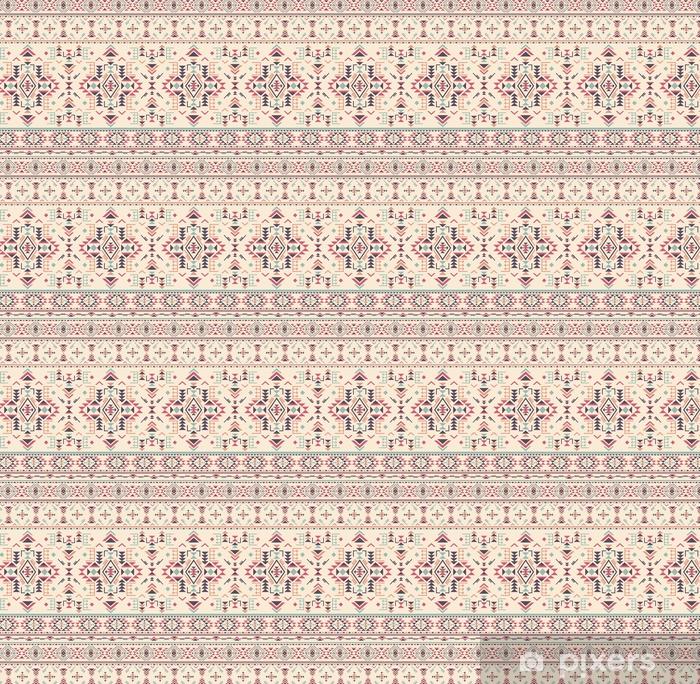 Özel Boyutlu Vinil Duvar Kağıdı Geometrik şekiller ile renkli etnik kesintisiz desen. - Grafik kaynakları